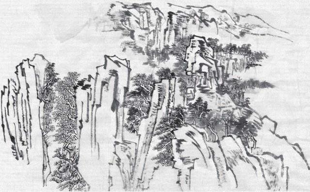 零基础山水画绘制讲解:老艺术家手把手教你画范画,小白也能学会