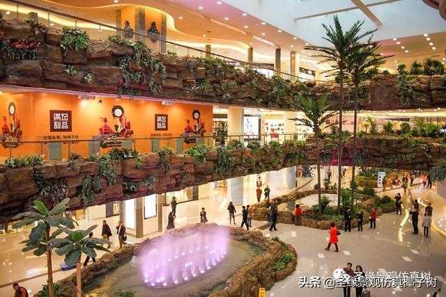 圣缘景观仿真椰子树|地中海热带雨林风格商场酒店装饰