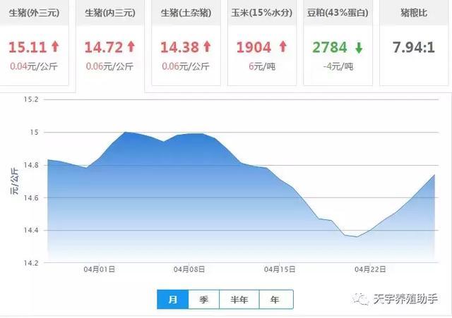 2019.4.27行情:最新生猪价格报价
