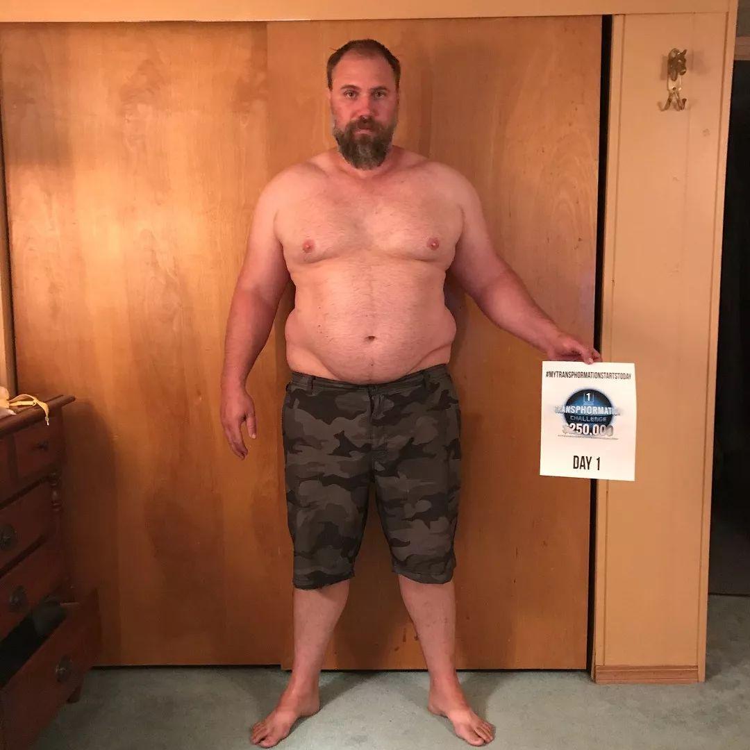 270斤胖爸半年暴减90斤变型男!胖爹狠起来,孩子都不敢认了