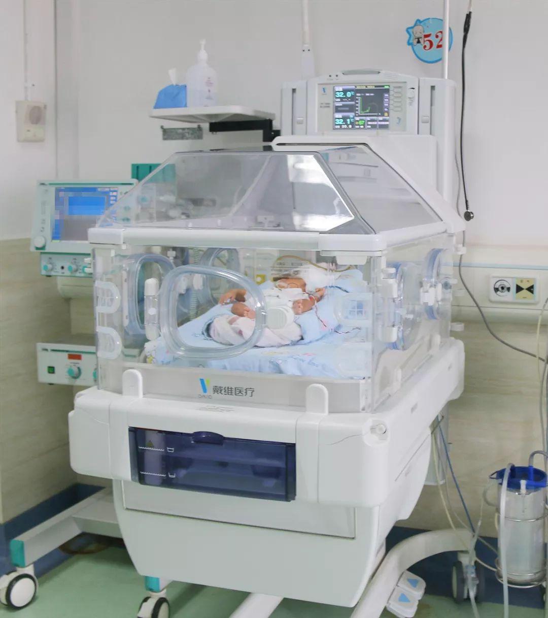 24周700克袖珍胎儿希希洗了人生的第一个澡……