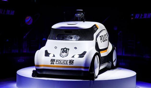 AIMO无人巡逻警车亮相 实现警务刚需