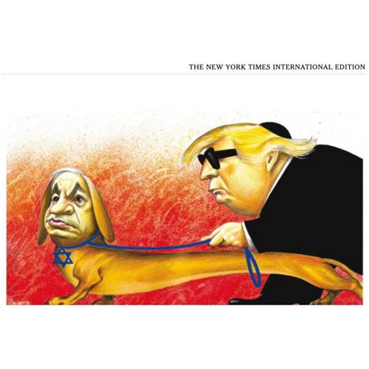 """被指""""公開反猶"""",《紐約時報》為一幅漫畫道歉_特朗普"""