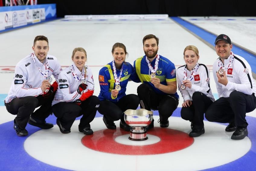 混双冰壶世锦赛:瑞典队复仇夺冠 美国队第三名