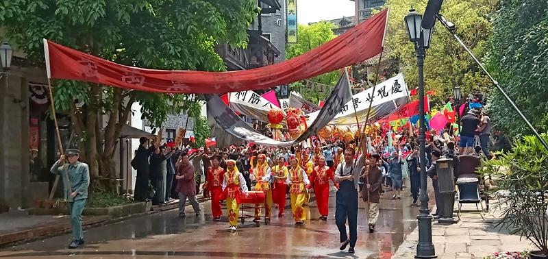 江津区民营经济协会白沙分会舞龙队  精彩亮相影视剧