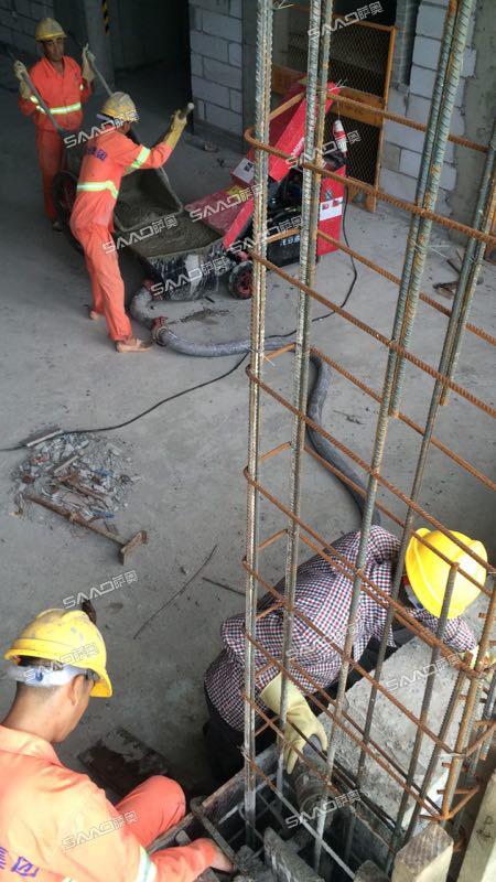 从施工效率来讲,二次结构浇筑泵节省了更多的资源