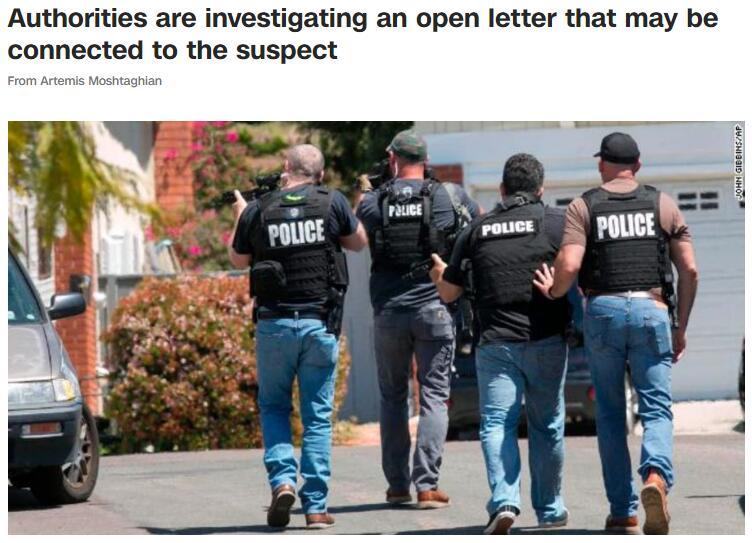 美犹太教堂枪击案嫌犯可能参与清真寺纵火,警方正调查