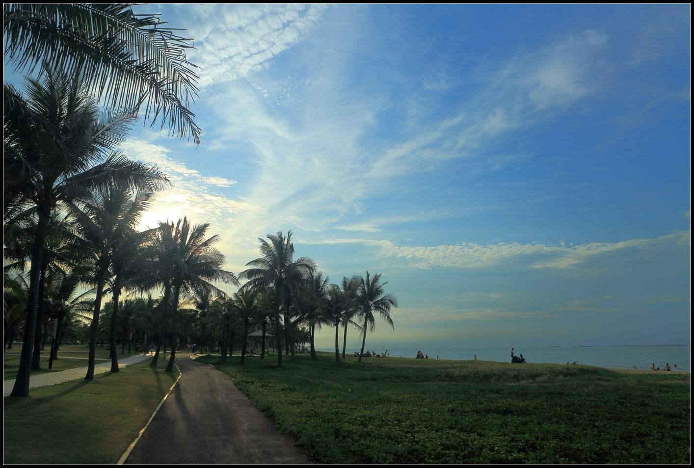 迷恋那一抹蓝,海口休闲旅行的好地方