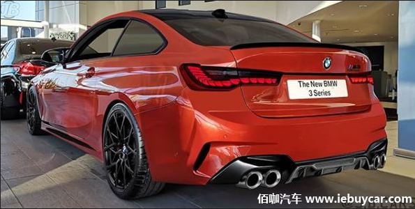 全新宝马M4渲染假想图 展示了对未来高性能轿跑车的车尾设计构想