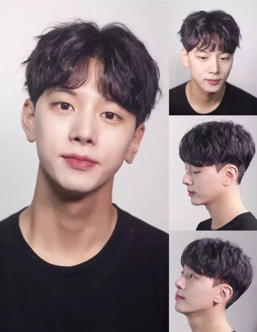 纹理中分 适合16-25岁的男生,脸型要要求:鹅蛋脸,瘦脸,圆脸,菱形脸图片