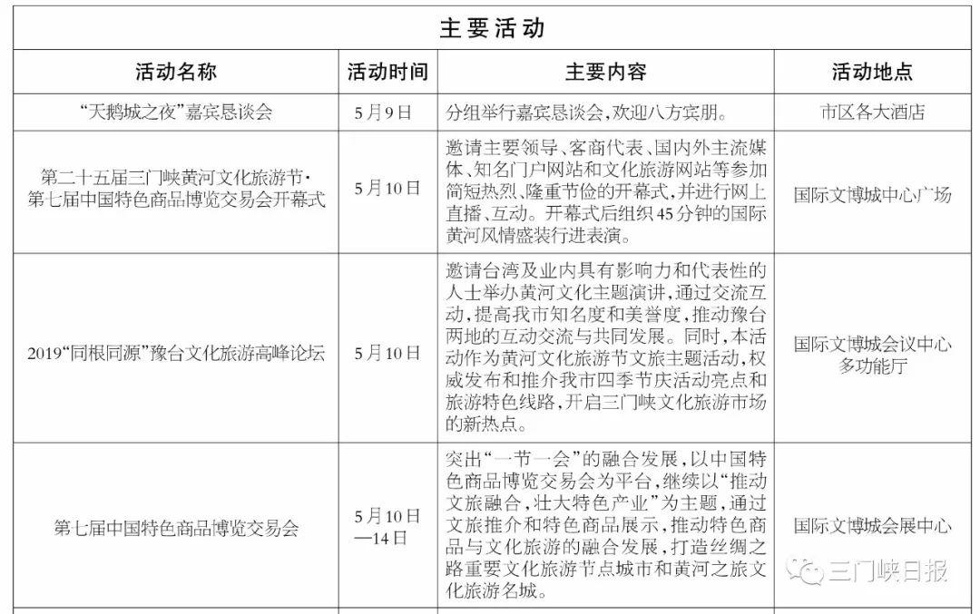 """2019年三门峡""""一节一会""""活动细节公布"""