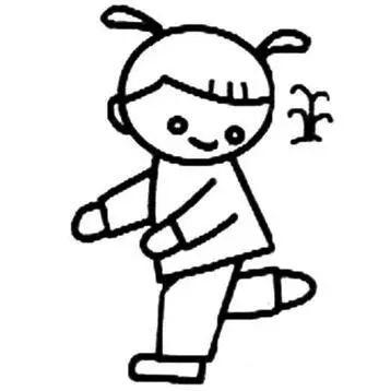 踢毽子简笔画