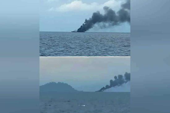 两国舰船相撞,在南海突发冲突