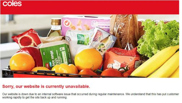 "Coles购物网站已瘫痪快3天!不知道什么时候恢复,超市主页被抱怨""屠版""!"