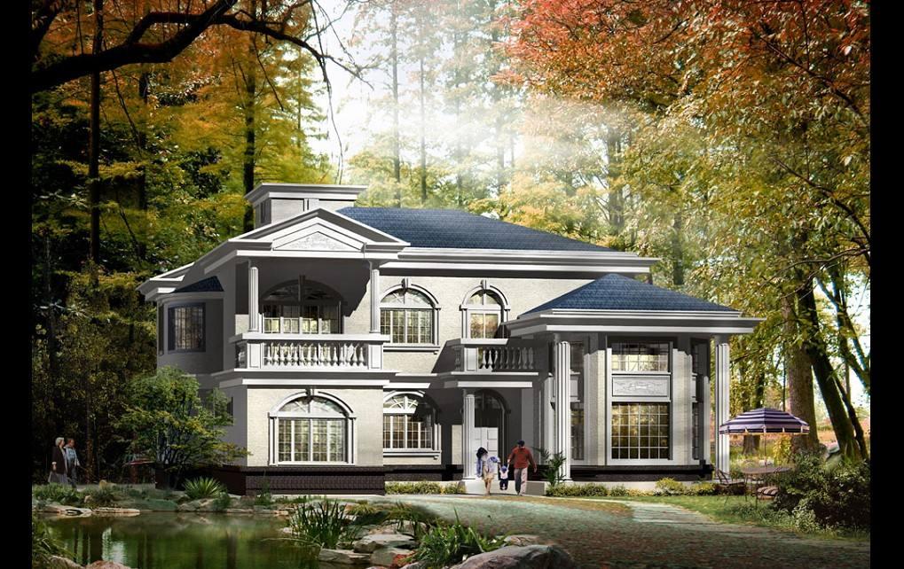 平顶四合院别墅设计图