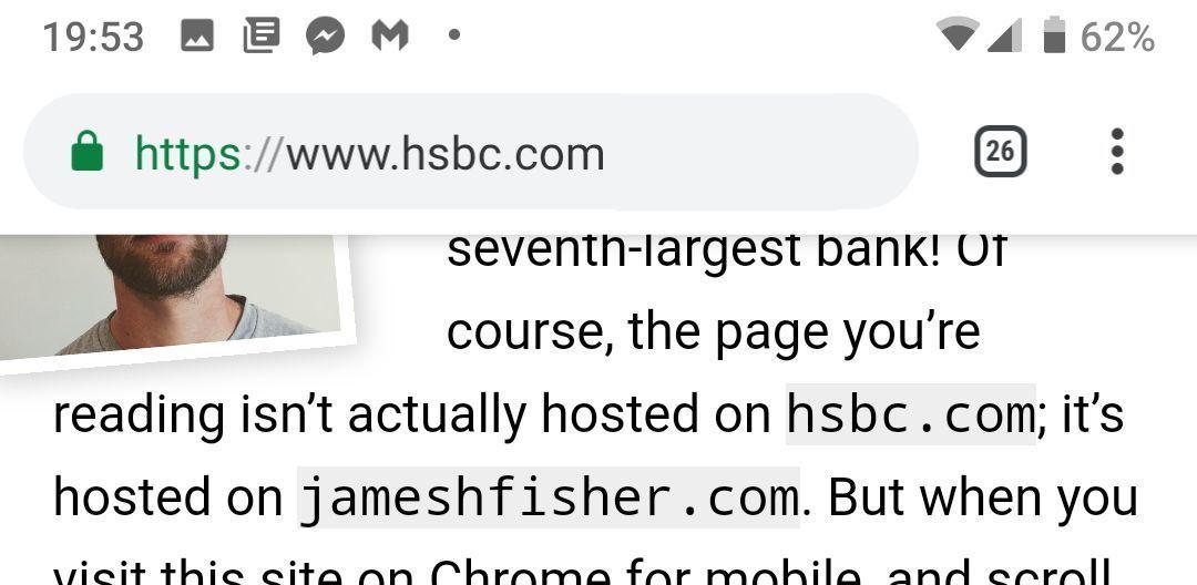 谷歌Chrome出现漏洞:黑客使用虚假地址栏进行网上诱骗