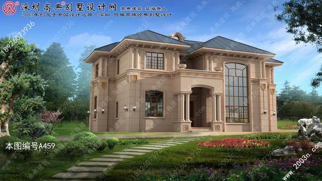 农村两层石材外墙别墅设计图首层193平方米两层楼房设计图