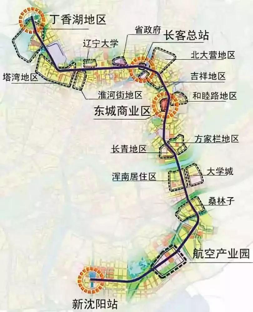 沈阳地铁6号线线路图