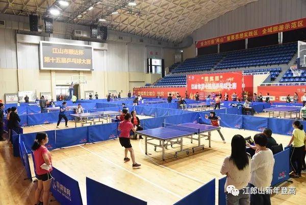 """日,江山市""""顺达杯""""第十五届乒乓球大赛在市体育馆开赛.绿色的悠悠球叫什么图片"""
