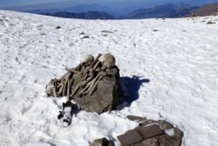 喜马拉雅山某处冰雪融化, 出现了一条湖, 湖中东西却让人恐慌