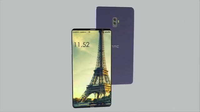 外媒曝光HTC概念新机,屏占比高达94.8%