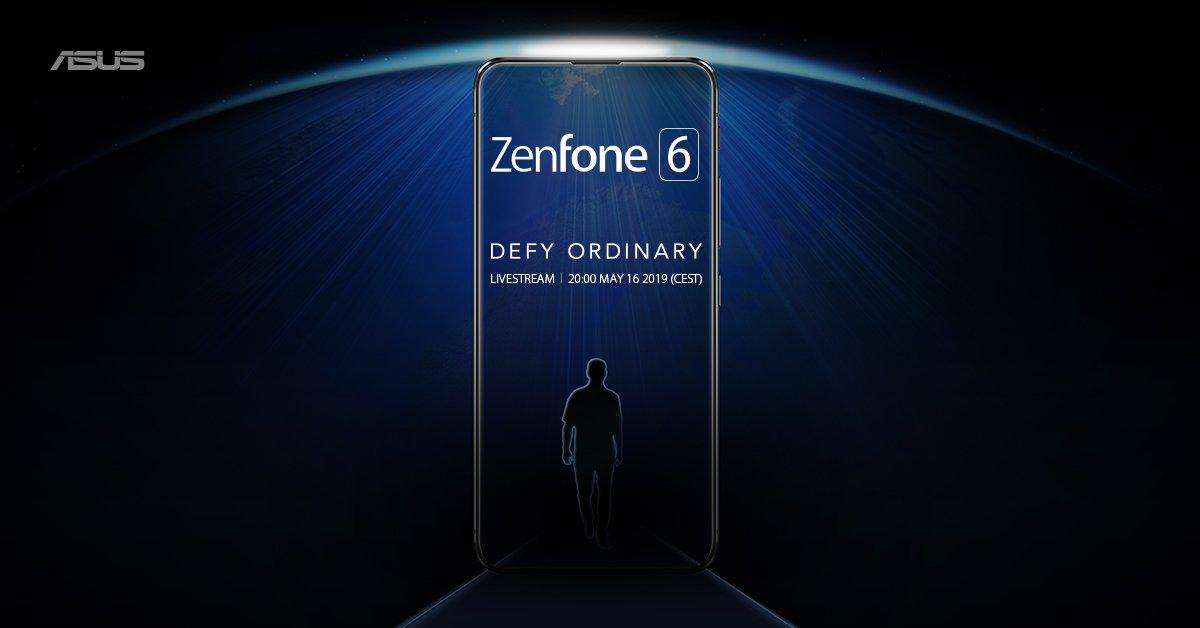 又一真全面屏旗舰登场:华硕官宣5月16日发布Zenfone6