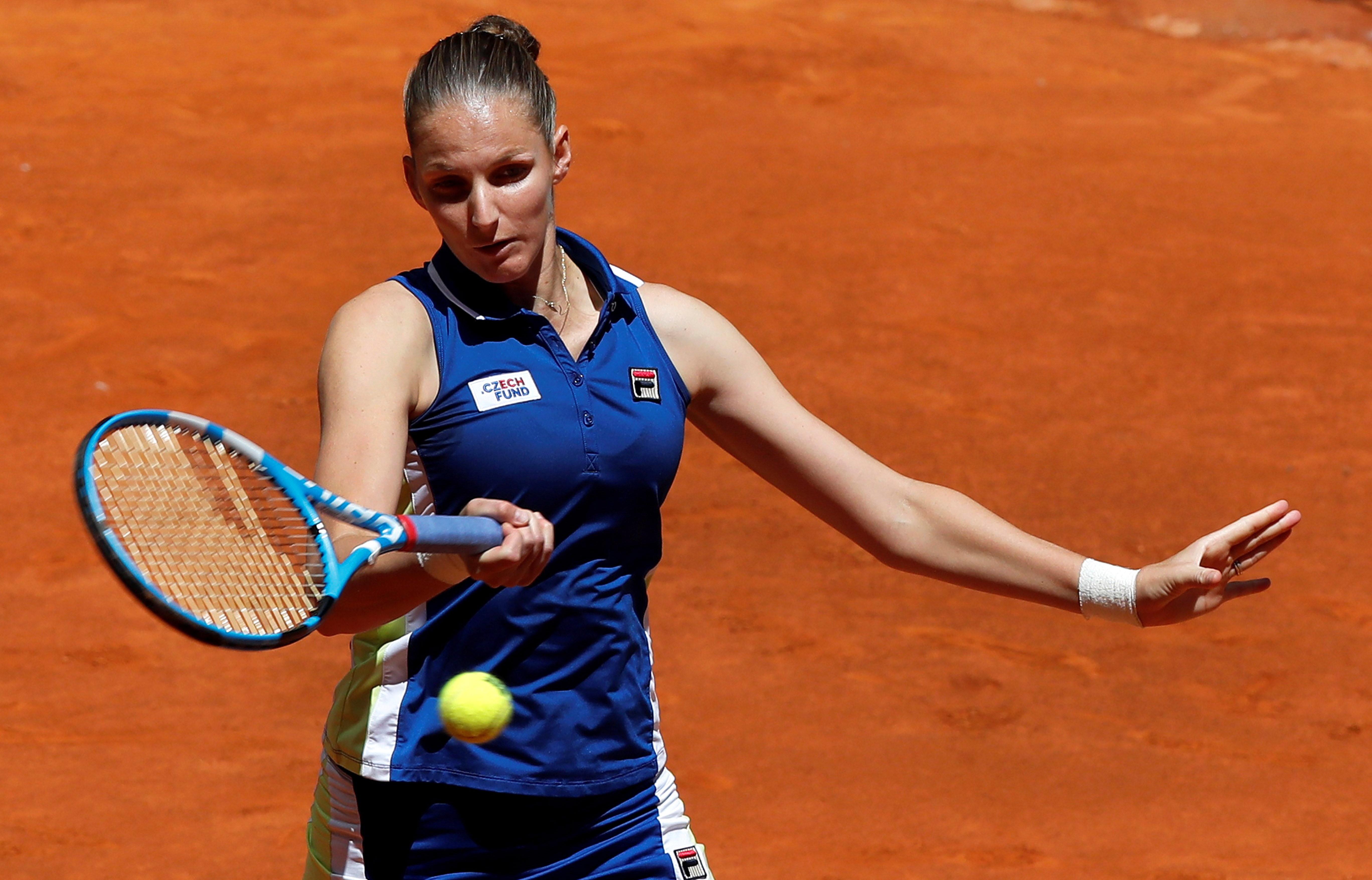 网球——马德里公开赛:卡·普利斯科娃胜亚斯特列姆斯卡