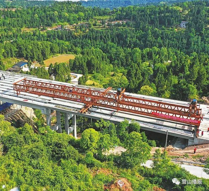 营山人速围观 营达高速公路最新进展 四合水大桥成功合龙