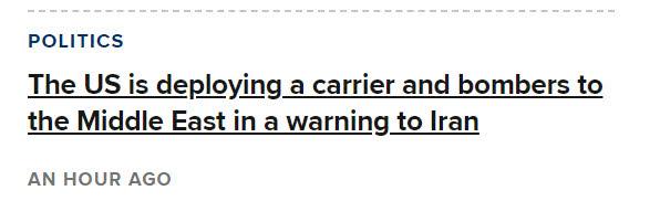 伊朗要撑不住了!美正派一航母编队,轰炸机中队增兵中东