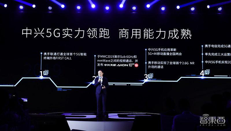 中兴抢先推出5G手机!AXON 10 5G版已做好商用准备