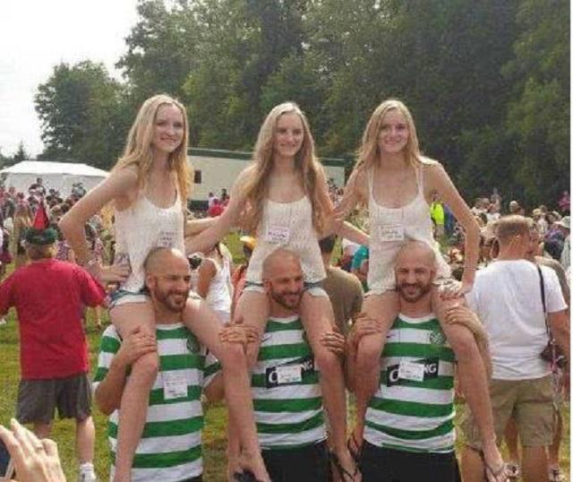 爆笑GIF图:三胞胎兄弟娶了三胞胎姐妹,这关系真是乱套了