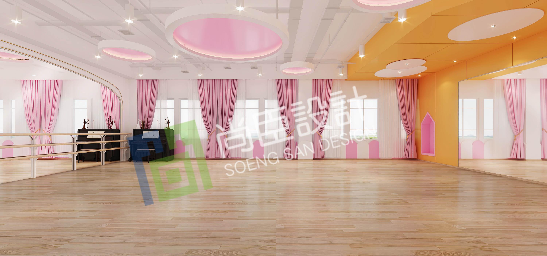 幼儿园装修把舞蹈室设计好,让孩子们自由挥舞图片