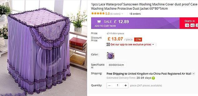 中式蕾丝洗衣机罩卖到国外引热议:洗衣机穿成这样是要去结婚吗?