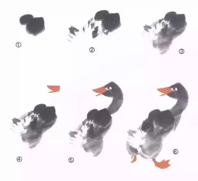图文教程 中国画技法之鸭