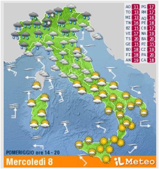 62年来最冷5月! 本周三, 意大利又将迎来新一轮雨雪天!