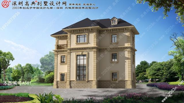 三层楼房设计图农村, 最好看的农村三层楼房, 农村实用三层楼房图片   a581