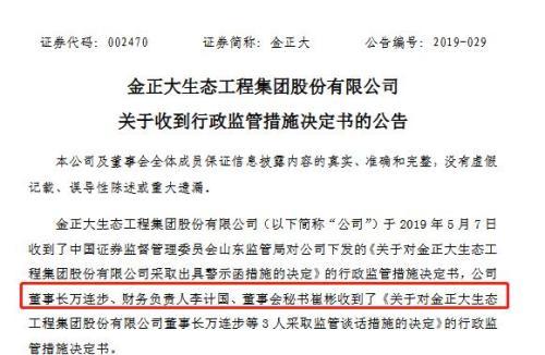 金正大董事长被采取行政监管措施 曾是山东临沂首富