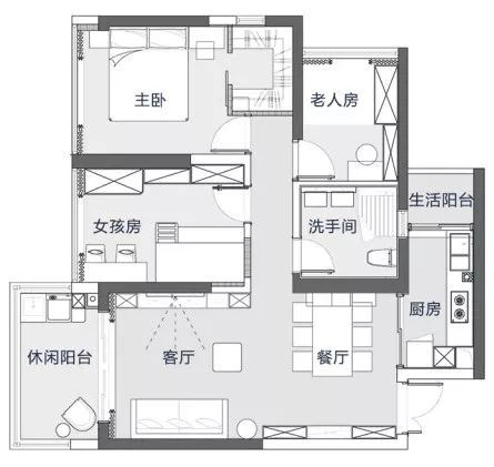 <b>87㎡两房改三房,有孩子的家就得这样设计</b>