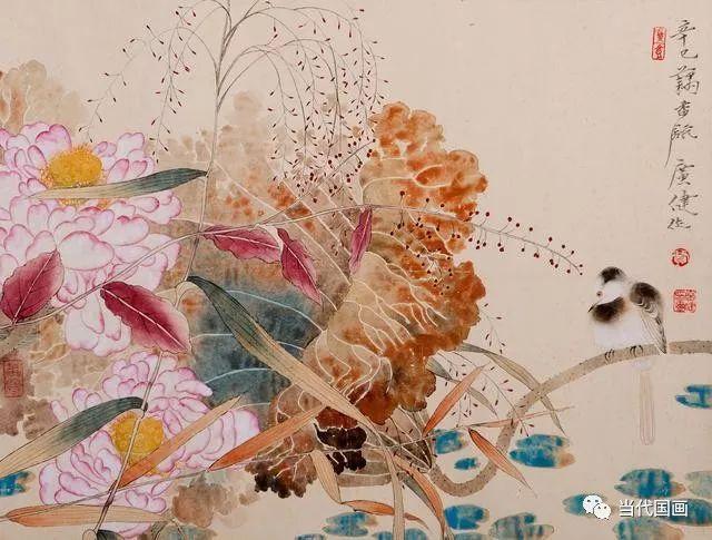贾广健的工笔花鸟画