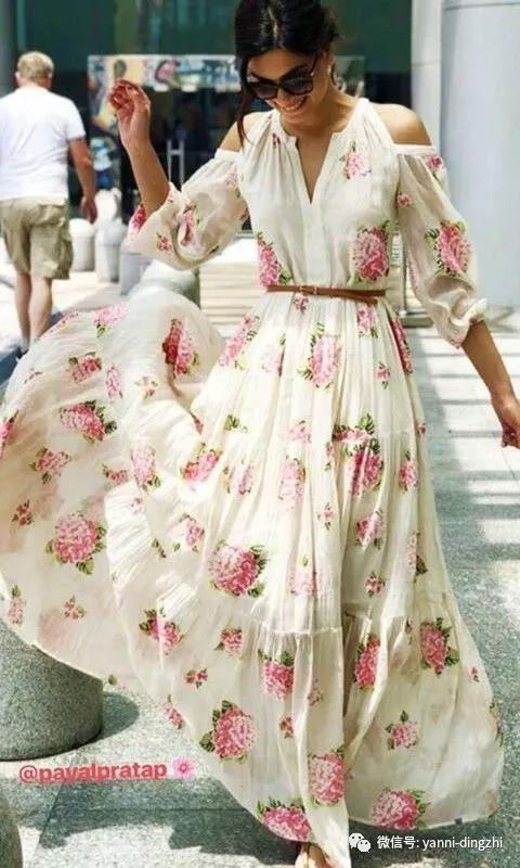 有一种美叫穿上纱裙去度假
