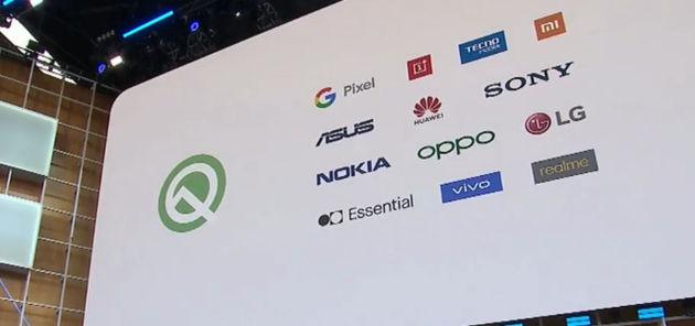谷歌公布首批Android Q机型:小米OV都比华为多