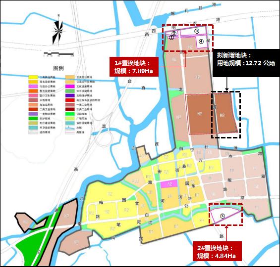 新增建设用地 西坞中心区这个地块用指标置换腾地发展
