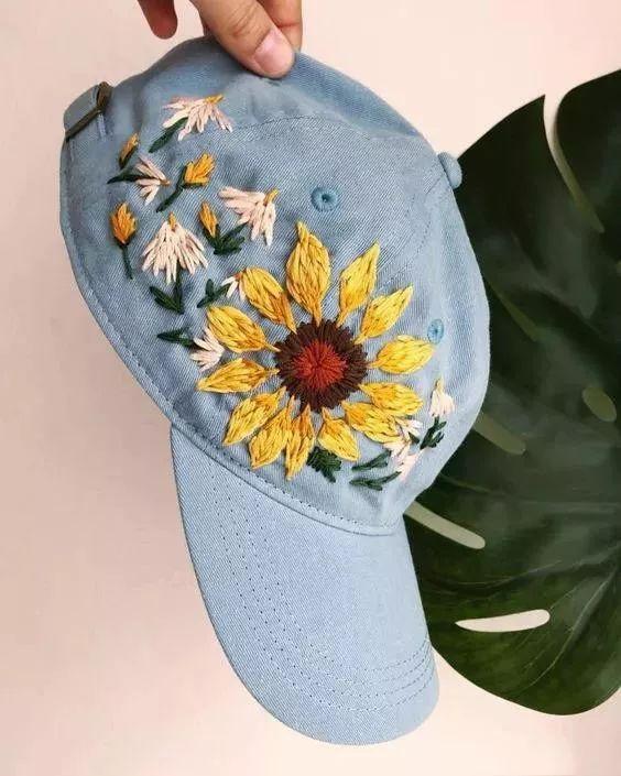 帽子买纯色的就够,这样做,再丑都能美上天!(附教程)