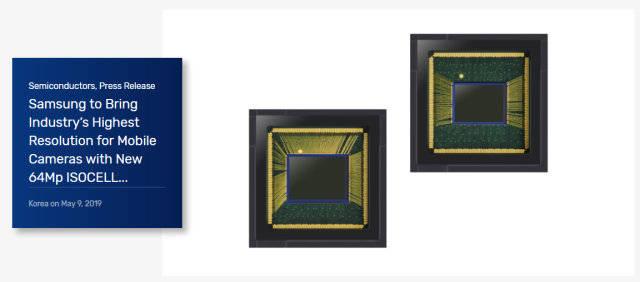 三星发布新一代COMS 将手机摄像头像素提高至6400万