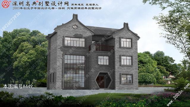 三层新农村房屋设计图首层170平方米盖房设计大全图