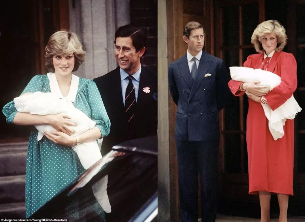 戴安娜王妃生下威廉王子和哈里王子时-37岁的她,凭什么赢凯特 戴