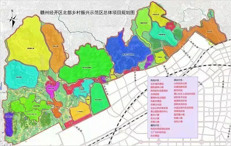 赣州经开区北部乡村振兴示范区总体项目规划图