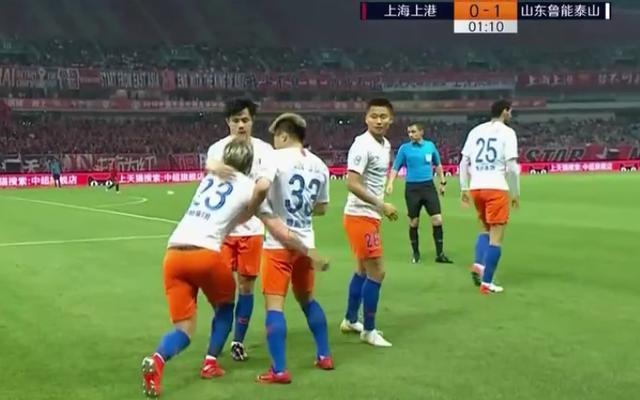 第56秒破门!王大雷策动攻势鲁能闪电进球,上千山东球迷疯狂庆祝