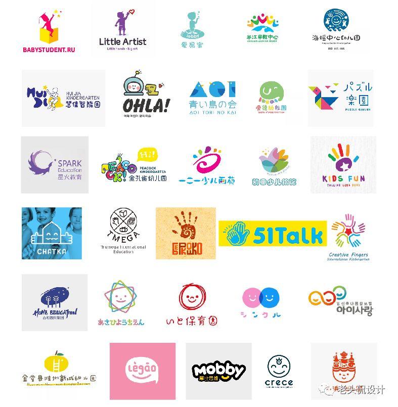 将儿童作为logo设计元素,除了更容易与其他行业区分外,同时也容...