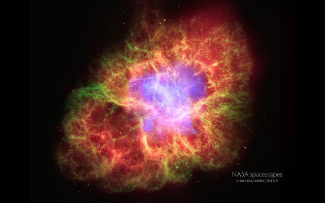 蟹状星云组合图片